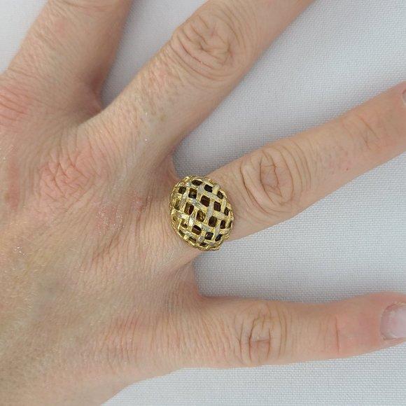 Vintage Gold Tone Adjustable Ring